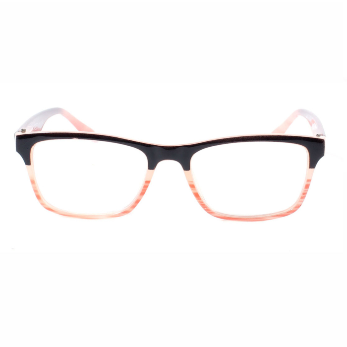 Double colored frame fashion reading glasses
