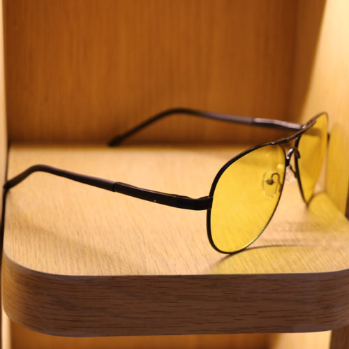 Yellow mirror polarized sunglasses sale
