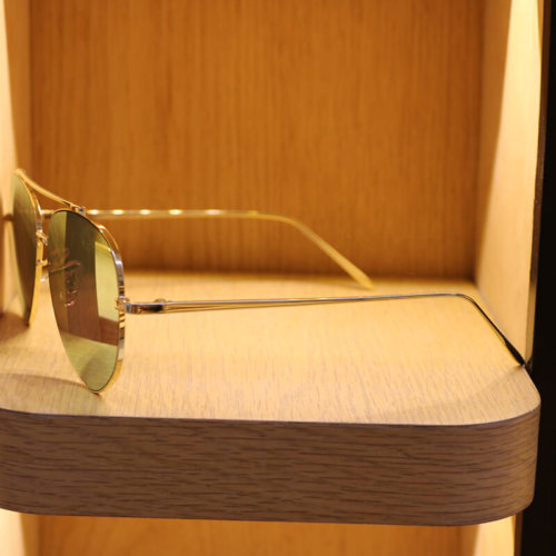 Golden frame colored glasses for men