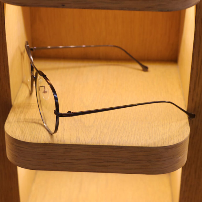 Narrow frame mirror glasses