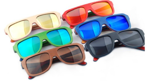 wholesale wood sunglasses with many colors